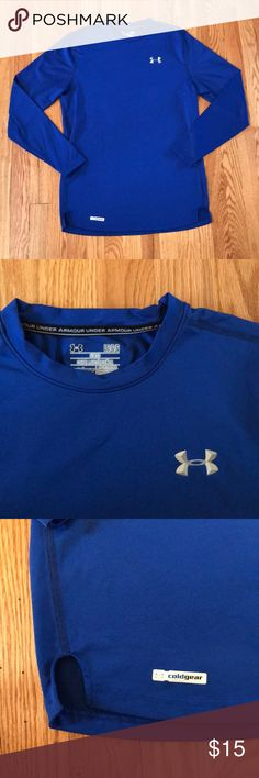 Men's Under Armor Shirt Blue men's under armor shirt. New without tags. Light weight and fitted. Size large. Under Armour Shirts Tees - Long Sleeve