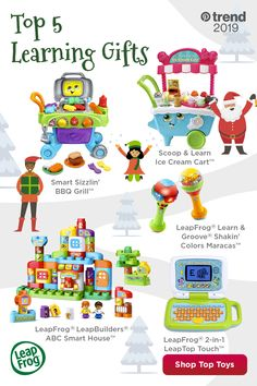 Shop LeapFrog gifts that are guaranteed to get giggles and smiles from the toddler or infant in your life. Discover this year's top 5 gifts by tapping the Pin. Toddler Christmas Gifts, Toddler Gifts, First Christmas, Toddler Toys, Kids Toys, Christmas Crafts, Christmas Ideas, Christmas Tree, 5 Gifts