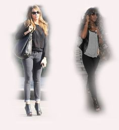 black denim, Sofia Vergara VS Naomi Campbell fashion diva who-wore-it-better celeb celebrity