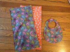 COMPLETED - bib and burp cloth set