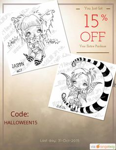 We are happy to announce 15% OFF our Entire Store. Coupon Code: HALLOWEEN15 Click here to view all products:  Click here to avail coupon: https://orangetwig.com/shops/AABQGY9/campaigns/AABiAjt?cb=2015011&sn=OddballArtCo&ch=pin&crid=AABiAjv