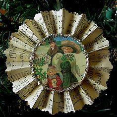Vintage music ornament