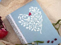 I love it! Cross Stutching Book Cover Heart / Kreuzstich Buchcover Herz