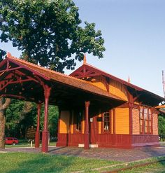 Minnehaha Depot, an 1875 railroad station in Minnehaha Park.