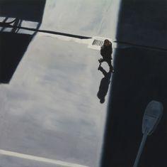 "Saatchi Online Artist: Matthew Carter; Oil, Painting ""Man into shadow"""