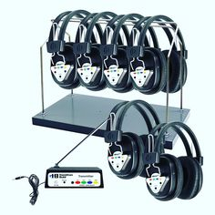 #HamiltonBuhl W906-MULTI #Wireless #Listening #Center perfect for all #multimedia #languagelab #classroom #business #presentation #tour #group applications. Each system includes one #transmitter and six #headphones as well as a #wireless #speaker for group use. SHIPPING NOW!😀💻🍏🔊🎤 #edtech #encoredataproducts #edutech #elearning #AssitiveTech #EdTechChat #TLChat #21StEdChat #EdTools #iPadEd #1to1
