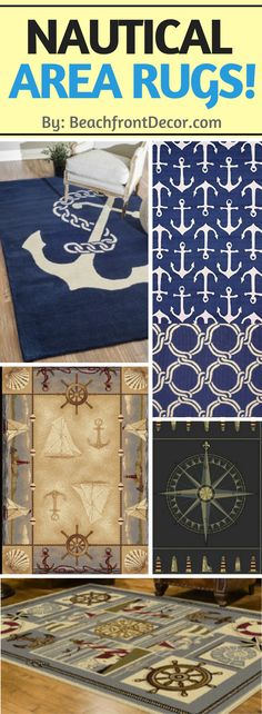 Check out our ultimate guide to nautical themed area rugs and see rugs that feature lighthouses, anchors, compasses, chains, ropes, seashells, fish, ocean, sea, and more coastal elements!