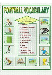 English Worksheets: FOOTBALL VOCABULARY