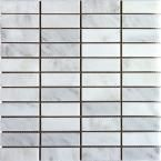 Master Bath shower floor MS International Greecian White 12 in. x 12 in. x 10 mm Honed Marble Mesh-Mounted Mosaic Tile sq. Carara Marble, Honed Marble, Marble Floor, Carrara, Stone Mosaic Tile, Mosaic Wall Tiles, Marble Mosaic, Backsplash Tile, Tile Flooring