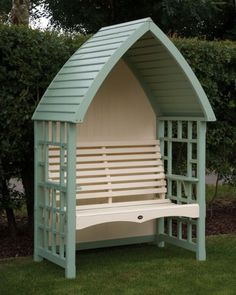 This a beautiful hand crafted garden Arbour, which is the perfect garden feature has both a stylish and traditional look. Available at Garden Mall Garden Seating, Outdoor Seating, Outdoor Decor, Outdoor Swings, Garden Arbor, Lawn And Garden, Garden Mall, Garden Privacy, Arbour Seat