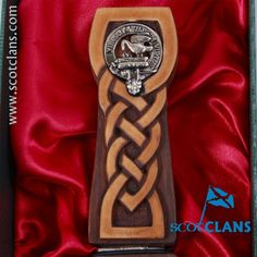 Stewart Clan Crest Sgian Dubh. Free Worldwide Shipping Available
