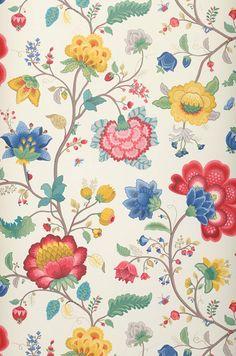 Crown Scandi Motif Floral Rose Bleu Jaune Argent Métallique Papier Peint Fleur Shimmer