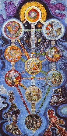 L'Arbre de la Cabbale (1985), oeuvre du peintre italien Davide Tonato