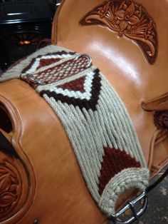 Custom mohair cinch made by Wild Flower Cinches