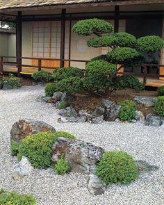 Asian zen sand garden