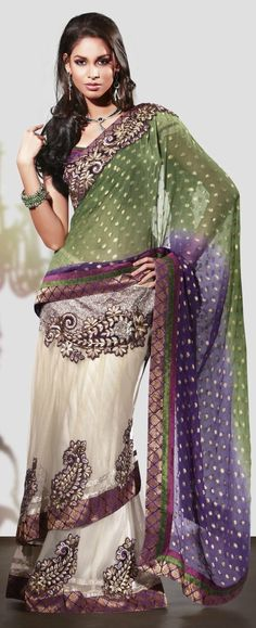 Designer party wear georgette saree