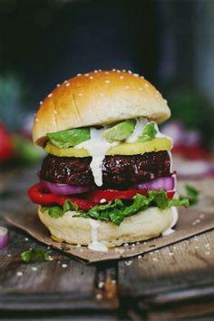 Bleu cheese avocado burger