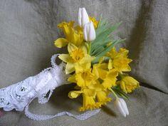 erikasfreshflowers.com/daffodil wedding bouquet