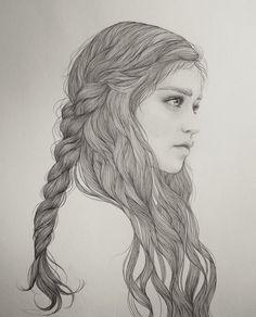 Beautiful Female Portrait Illustrations by Mercedes DeBellard