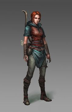Image result for dnd human ranger female