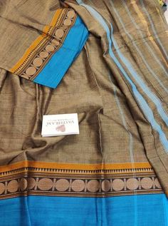 Pure Cotton saree with Thread woven Border And Running Blouse