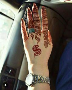 Finger Henna Designs, Henna Tattoo Designs Simple, Mehndi Designs Feet, Mehndi Design Pictures, Modern Mehndi Designs, Mehndi Designs For Girls, Henna Art Designs, Mehndi Designs For Beginners, Wedding Mehndi Designs
