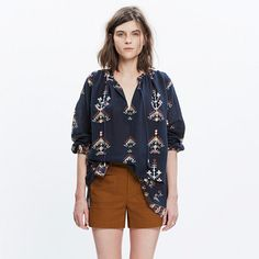 Madewell+-+Folkstitch+Popover+Top