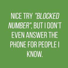 Nice try blocked num