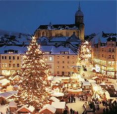 Dresden, Germany Christmas Market - the first German Christmas Market.  Pinned by www.mygrowingtraditions.com