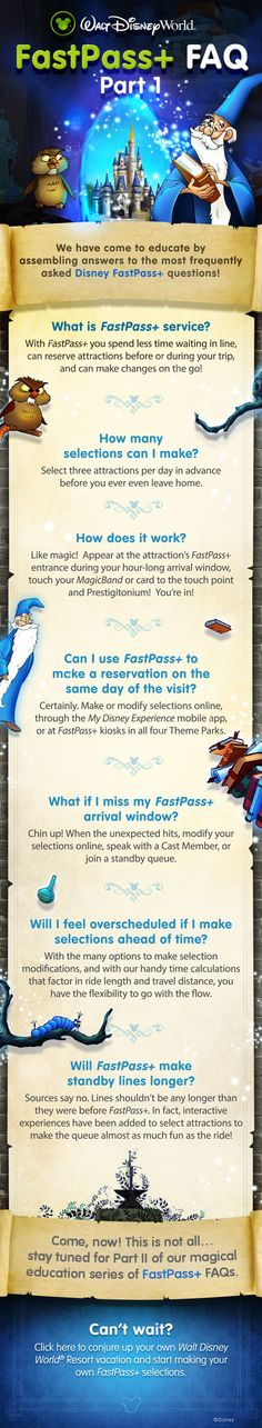 How to use Disney's FastPass+ service. Have your DreamFinder Travel agent take care of all of this for you! #wdw #fastpass #dreamfindertravel www.dreamfindertravel.net