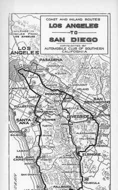 Coast and inland routes: Los Angeles to San Diego, 1929 :: Automobile Club of Southern California collection, 1892-1963