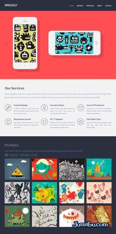 Plantilla Web Gratuita HTML + CSS + PSD | Jumabu! Design Tools - Vectorizados - Iconos - Vectores - Texturas