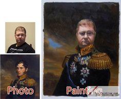 Custom oil portrait-Perfect general