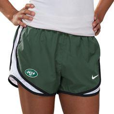 #FansEdge  New York Jets Women's Green Nike Dri-Fit NFL Tempo Short