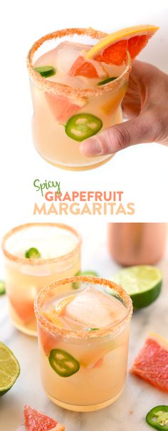Spice up your classic margarita recipe with some jalapeño infused tequila and juicy, fresh grapefruit juice for the most delicious cocktail on the planet!