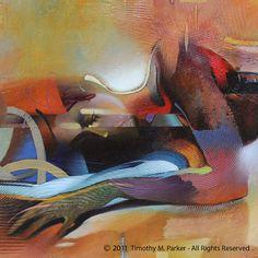 Abstract Nude Art Figure Painting Reproduction door FigureArt