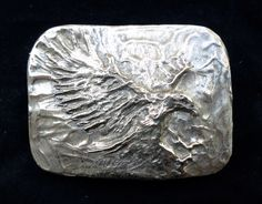 Landing eagle belt buckle in alpaca by Marcela Ganly Belt Buckles, Sculpture Art, Landing, Eagle, Bronze, Personalized Items, The Eagles, Vulture, Eagles