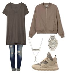 """""""Untitled #2538"""" by princessceairra ❤ liked on Polyvore featuring Aéropostale, adidas Originals, Mavi, Rick Owens and Charlotte Russe"""