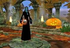 My Dark Elf Necromancer dressed up as a Spectre for Halloween, check out my loot of Halloween candy #EverQuest