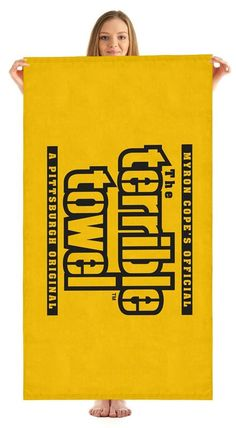 Pittsburgh Steelers NFL Terrible Beach Towel Myron Cope Official Towel - New with Tags Steelers Terrible Towel, Steelers Gear, Steelers Stuff, Pittsburgh Sports, Steeler Nation, Pool Towels, How To Show Love, Nfl Football, Beach Towel