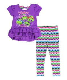 Love this TMNT 'Turtley Cute' Ruffle Tunic & Leggings - Kids on #zulily! #zulilyfinds