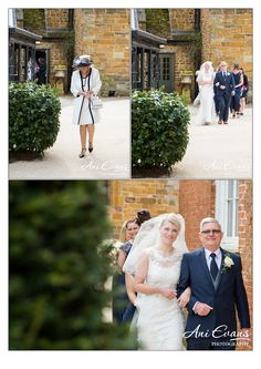 Wedding Photography Fawsley Hall Bride and Dad