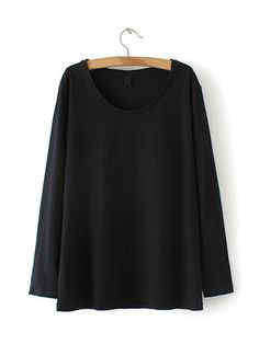 Casual Women Pure Color Long Sleeve O-Neck Blouse
