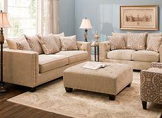 Cindy Crawford Calista Microfiber Sofa