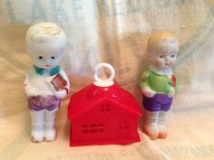 2 Adorable Little Bisque Dolls  by SylviasFinds on Etsy, $10.00