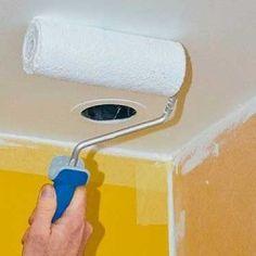Appliquer une peinture spéciale pièce humide. Mousse Expansive, Tube Pvc, Toilet Paper, Bathroom, Dressings, Deco, Mechanical Ventilation, Angle Grinder, Washroom