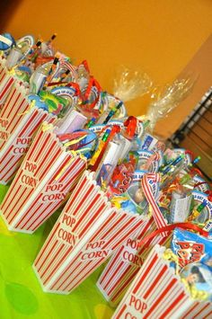 Movie Night Birthday Party Favor
