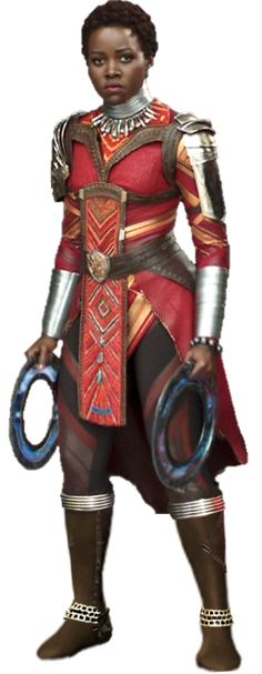 The gorgeous Lupita Nyong'o as Nakia in Black Panther Movie Full body concept PNG Nakia Black Panther Full Body PNG