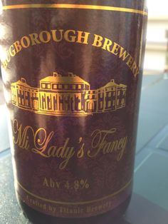 Shugborough Mi Ladys Fancy  Brewed by Shugborough (Titanic) Style: Golden Ale/Blond Ale Stafford, England