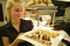 Georgia with some canapes